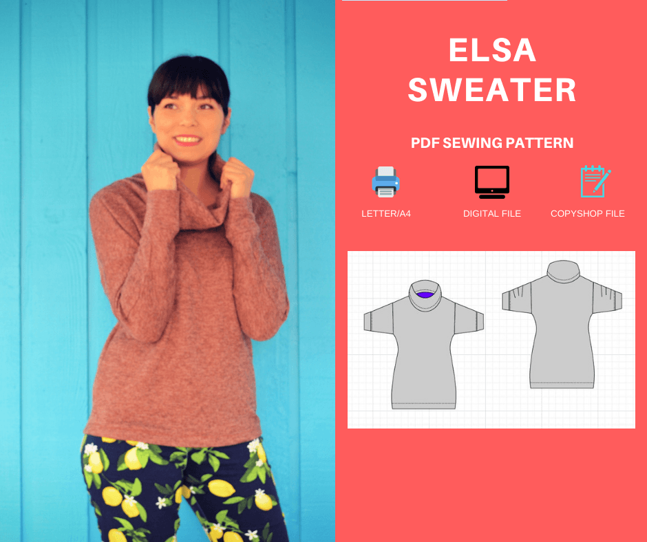 NEW PATTERN FOR SALE: The Elsa Sweater PDF sewing pattern and sewing tutorial