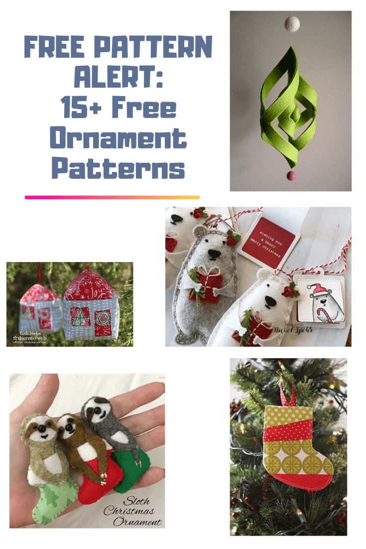 Free Pattern Alert 15 Free Ornament Patterns On The Cutting Floor Printable Pdf Sewing Patterns And Tutorials For Women