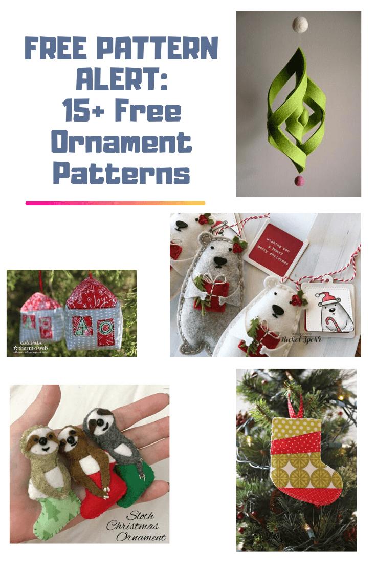 FREE PATTERN ALERT: 15+ Free Ornament Patterns