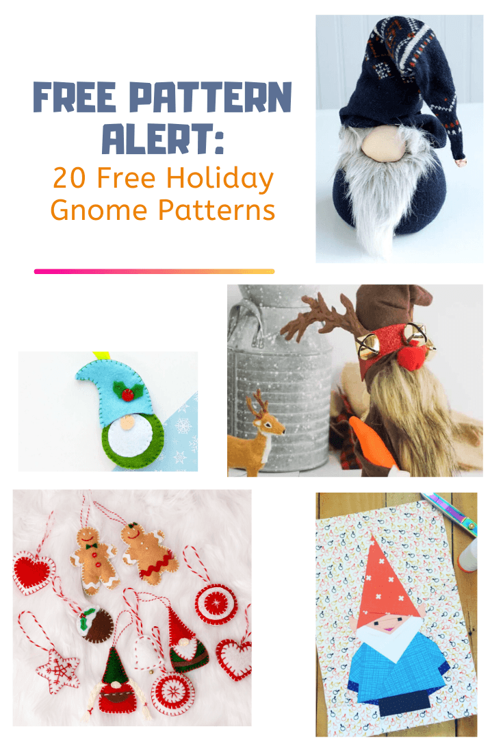 Easy Free Sewing Patterns 20 Free Holiday Gnome Patterns On The Cutting Floor Printable Pdf Sewing Patterns And Tutorials For Women
