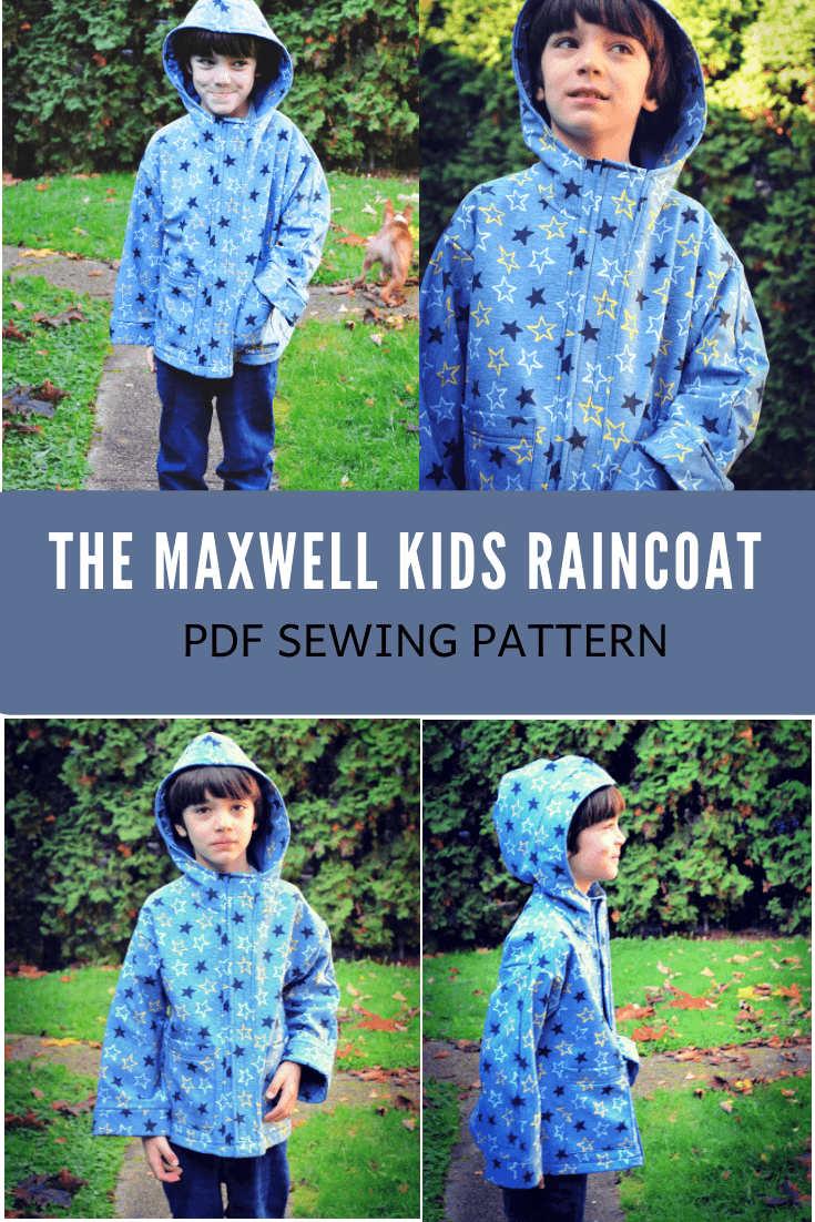 MAXWELL RAINCOAT FOR KIDS PDF SEWING PATTERN AND SEWING TUTORIAL