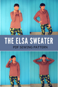 ELSA SWEATER SEWING PATTERN FOR WOMEN AND SEWING TUTORIAL