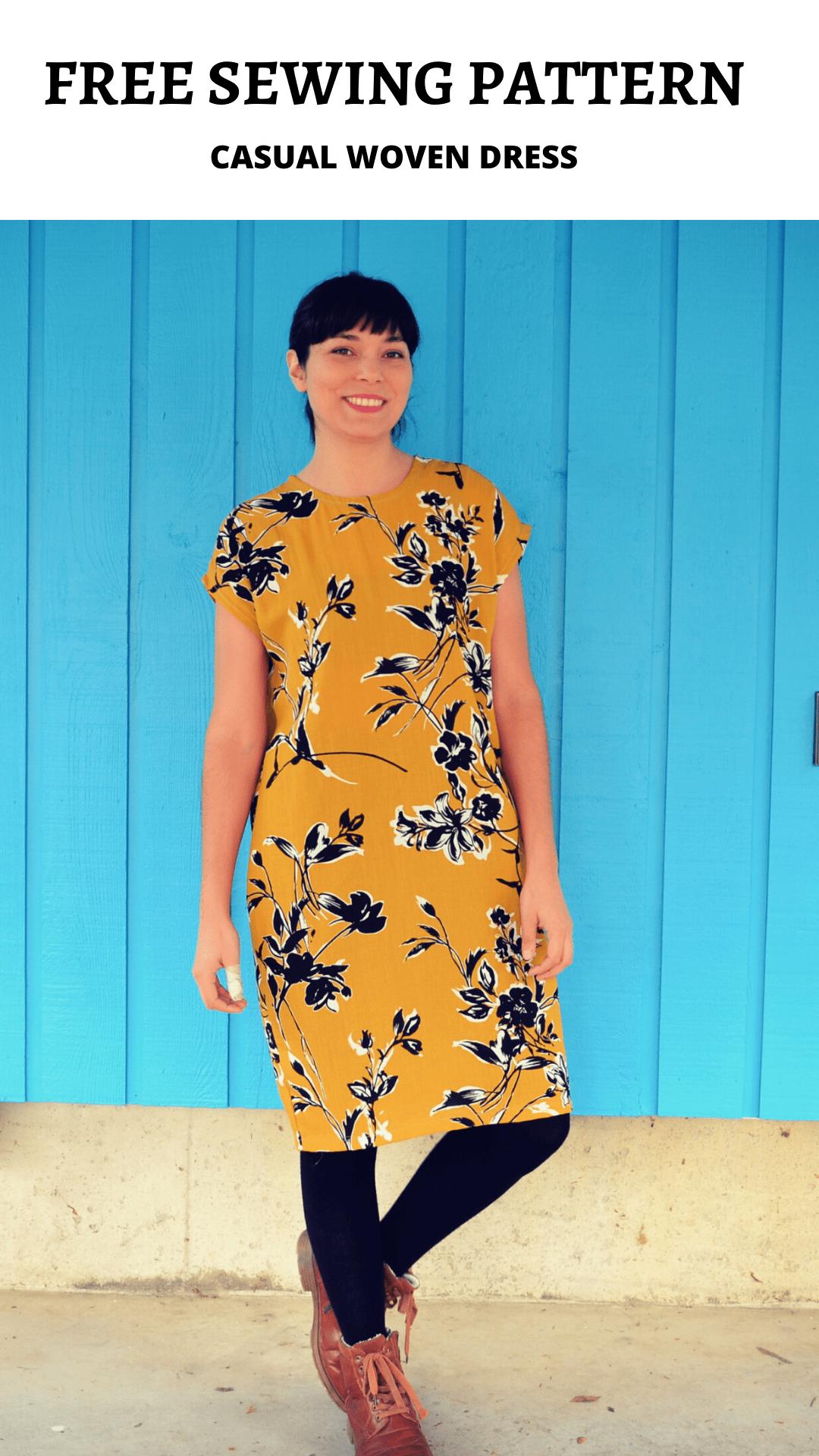 FREE PATTERN ALERT: Casual Woven Dress