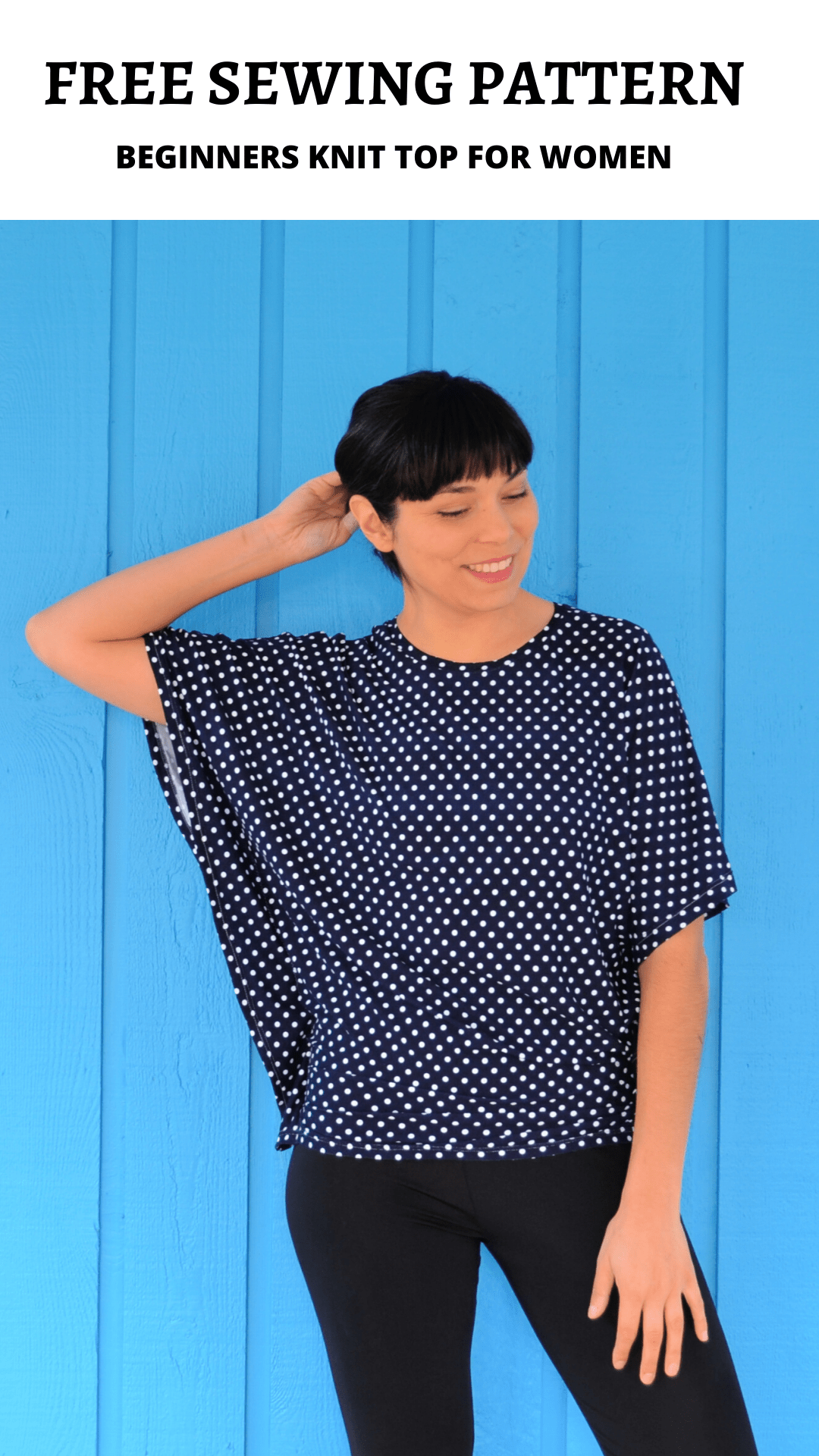 FREE SEWING PATTERN:  Beginners Knit top for Women