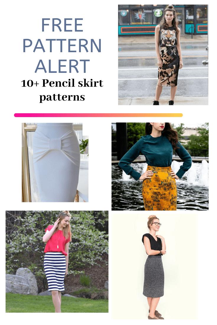 FREE PATTERN ALERT: 10+ Free Pencil Skirt Patterns