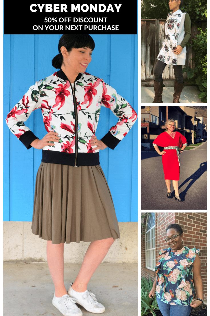 CYBER MONDAY! Purchase any pattern and fabric with a 50% OFF discount
