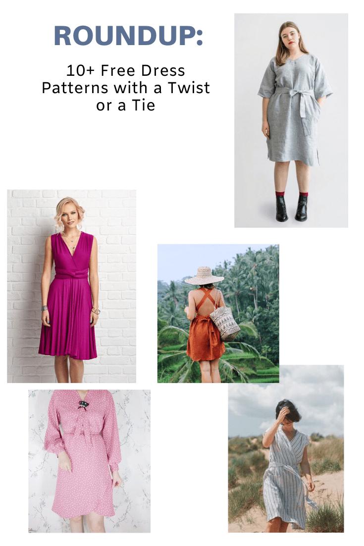 FREE PATTERN ALERT:10+ Free Dress Patterns with a Twist or a Tie