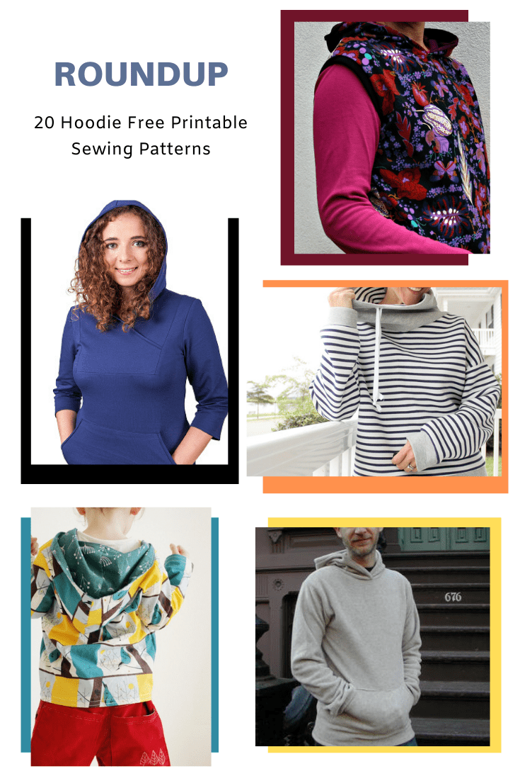 Free Pattern Alert 20 Hoodie Free Printable Sewing Patterns On The Cutting Floor Printable Pdf Sewing Patterns And Tutorials For Women